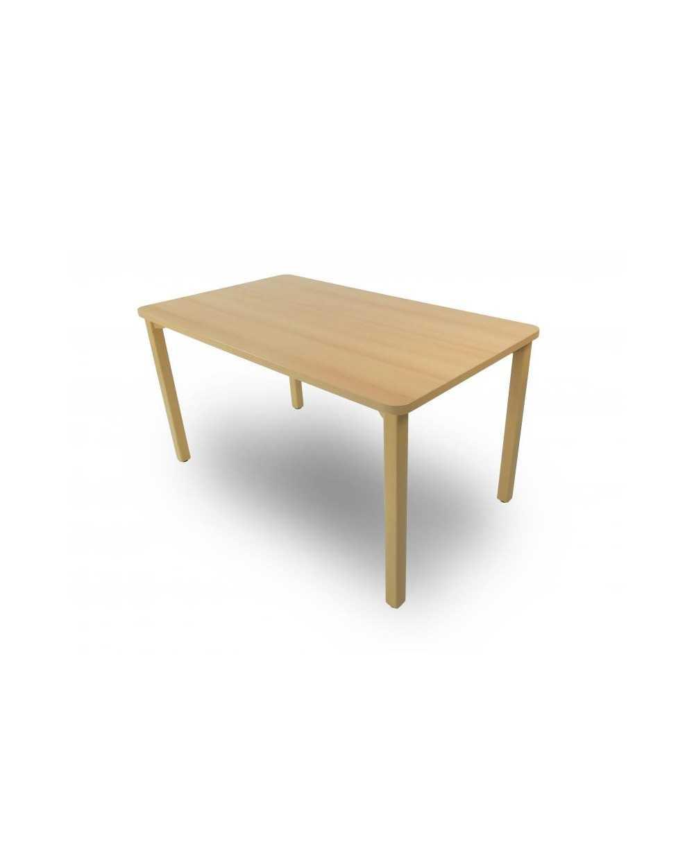 Table, avec coins arrondis, 80 x 140 x 75,5 cm (hauteur).