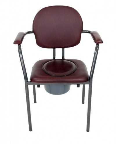Chaise hygiénique avec tampon, vinyle bordeaux.