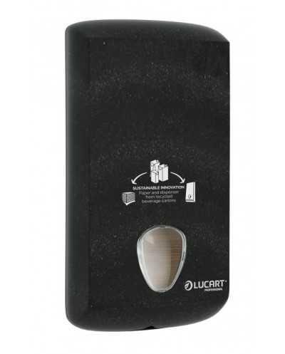 Distributeur Alpe pour papier hygiénique feuille à feuille, noir.