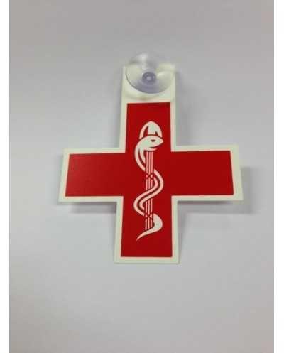 Caducée - Croix Médecin, rouge.