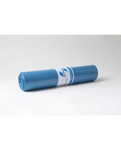 Sacs poubelle, 70 x 110 cm, +/- 120 litres, bleu.Carton de 10 rouleaux de 25