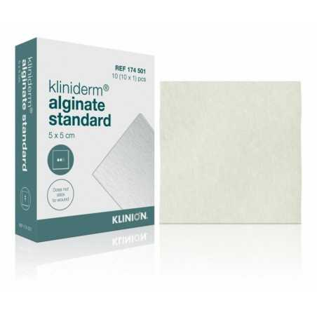 Kliniderm Alginate standard, 5 x 5 cm, stérile. Boîte de 10