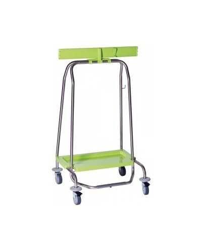 Support simple pour sac poubelle WASTY, avec pédale, 4 roues.
