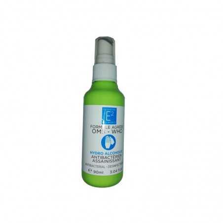 Flacon de 90 ml solution hydro-alcoolique Essentiel E2