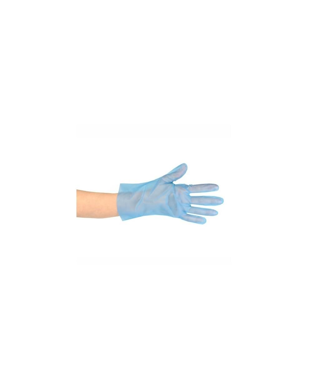 Gants TPE, bleu - taille uniqueCarton de 10 boîtes de 200 gants