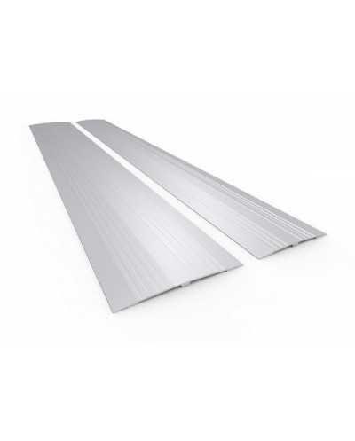 Passe-seuil en aluminium, 11 x 95 cm, aluminium anodisé blanc.
