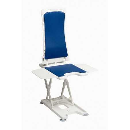 """Siège de bain électrique """"Bellavita"""" modèle Classic, sans rabats pour la baignoire, bleu."""