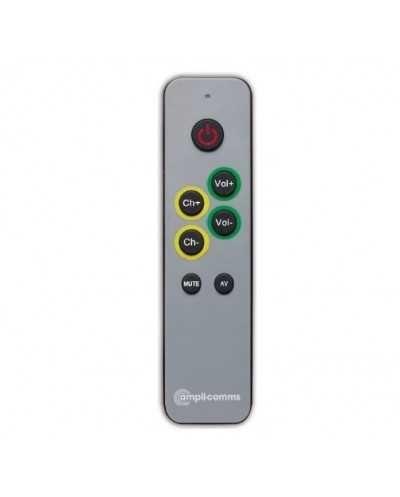 Télécommande universelle avec touches larges pour TV et matériel audio