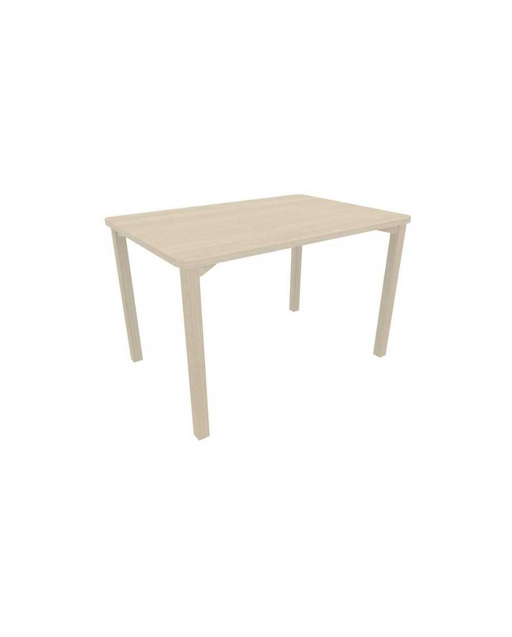 Table, avec coins arrondis, 80 x 140 x 75,5 cm (hauteur), chêne grisé