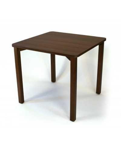 Table, avec coins arrondis, 80 x 80 x 75,5 cm (hauteur).