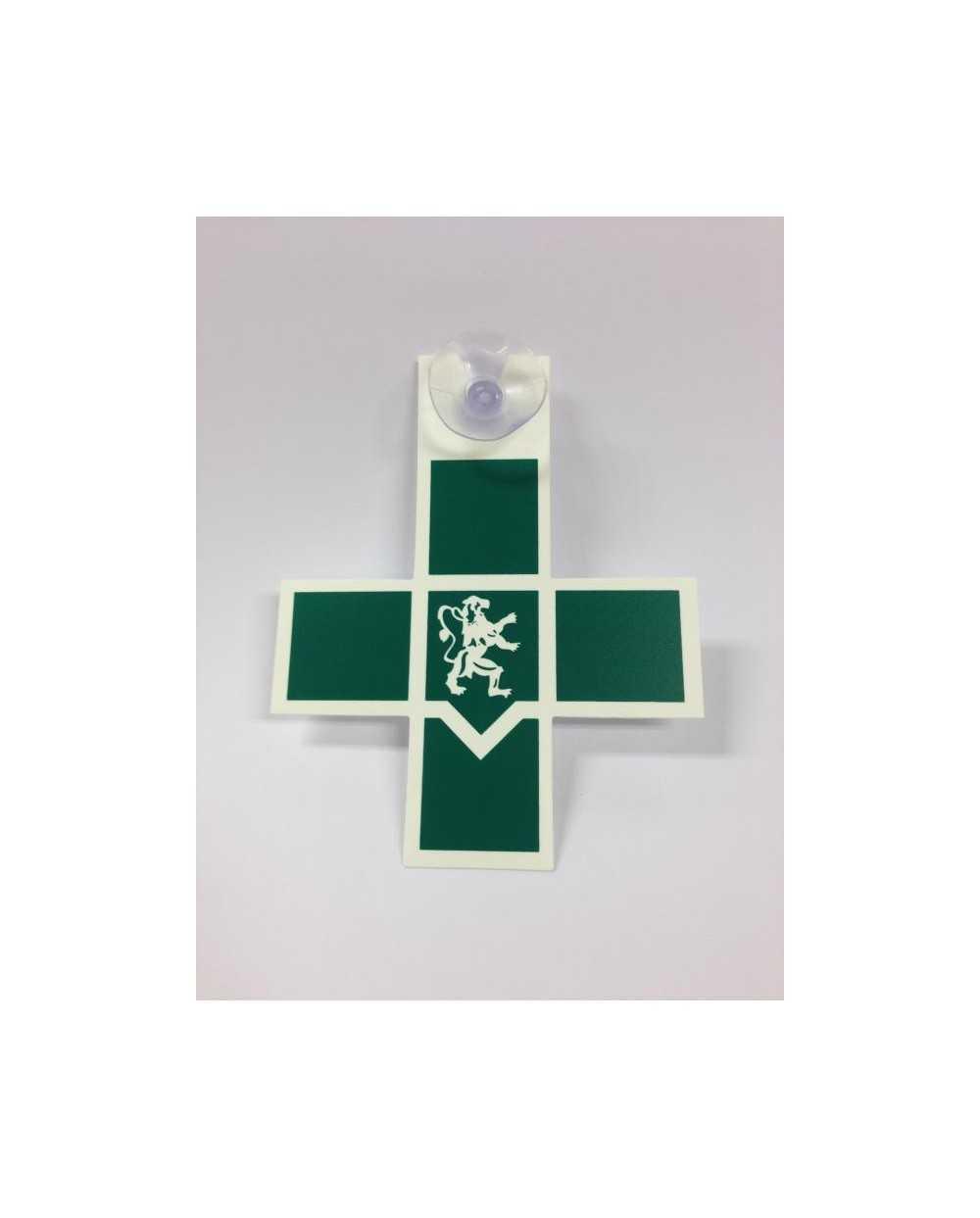 Caducée - Croix Infirmier(ère), verte.