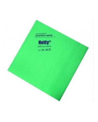 Chiffon microfibre antibactérien Netty, vert.Paquet de 5