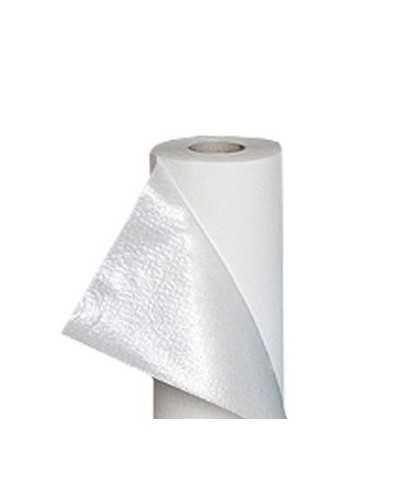 Drap d'examen plastifié blanc - largeur 50 cmPar carton de 12 rouleaux.