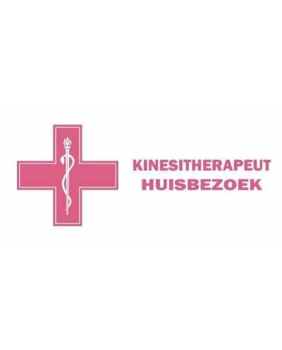 "Plaque ""Kinesitherapeut - huisbezoe"", mauve - NL."