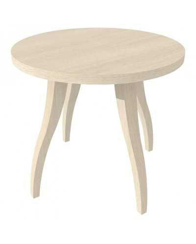 Table de salon Flex ronde, Æ 60 cm x 55 cm, chêne grisé.