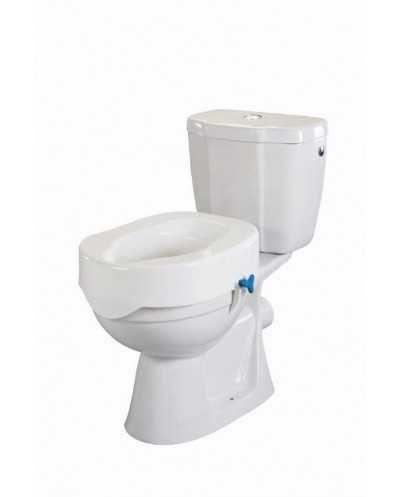 Rehausse-wc avec molette de réglage, hauteur 15 cm.