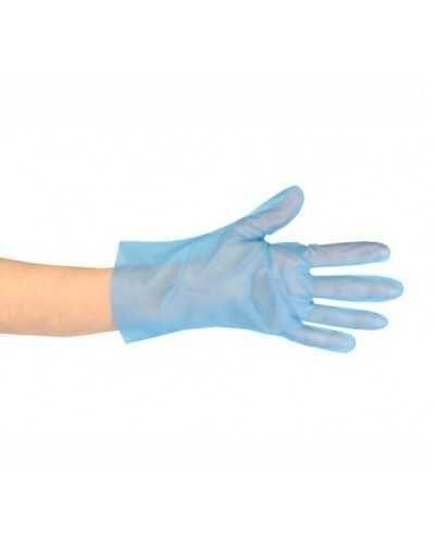 Gants TPE, bleu - taille unique. Boîte de 200