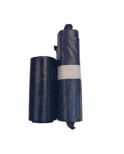 Sacs poubelle, 60 x 90 cm, +/- 60 litres, noir.Carton de 20 rouleaux de 20
