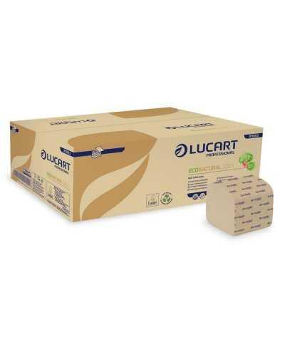 Papier hygiénique Eco Natural, feuille à feuille, en vrac, 2 plis, naturel. Carton de 40 x 210 feuilles