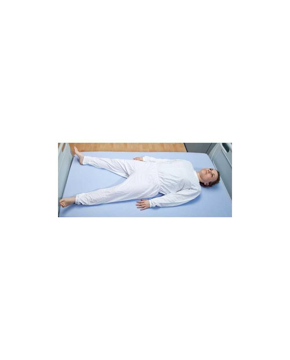 Genouillère manches longues avec zip à l'entrejambe, blanc, Médium