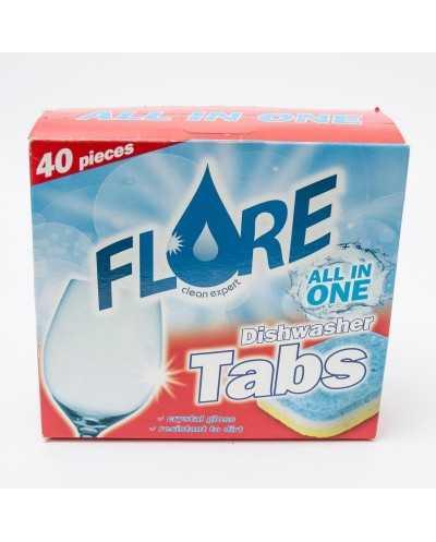 Tablettes Flore pour le lave-vaisselle.Boîte de 40