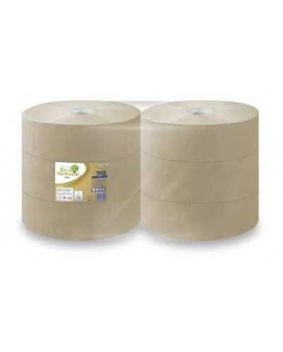 Papier hygiénique Eco Natural, 350 m, 2 plis, naturel.Ballot de 6 bobines