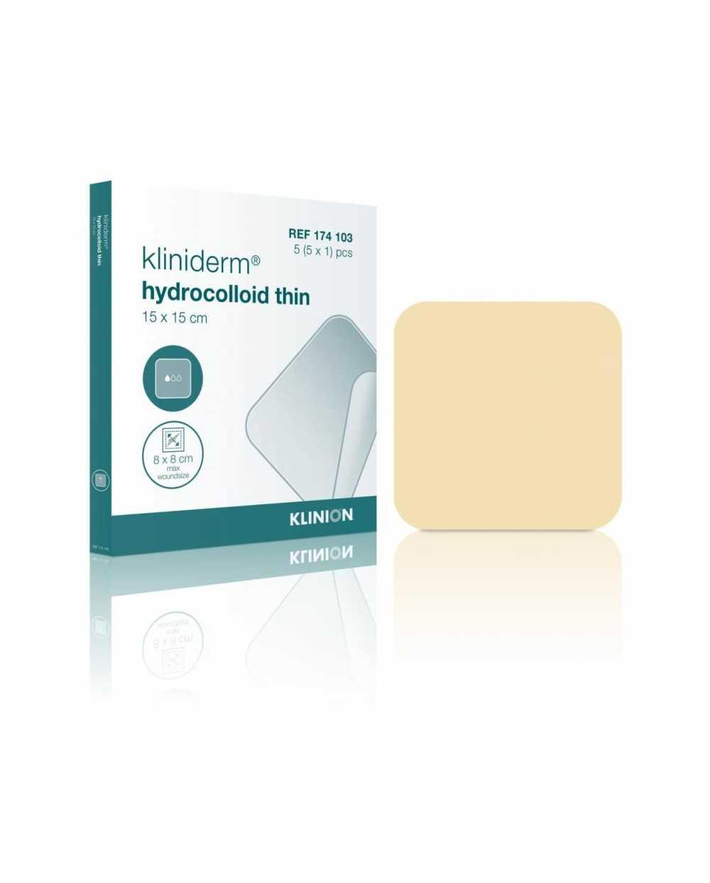 Pansements Kliniderm Hydrocolloïde fins, 7,5 x 7,5 cm, stérile.Boîte de 5