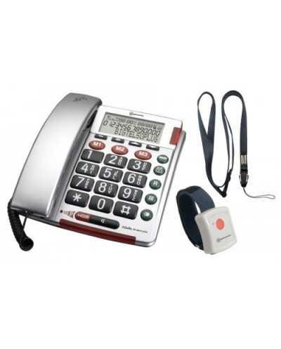 Téléphone à grosses touches avec bracelet d'urgence