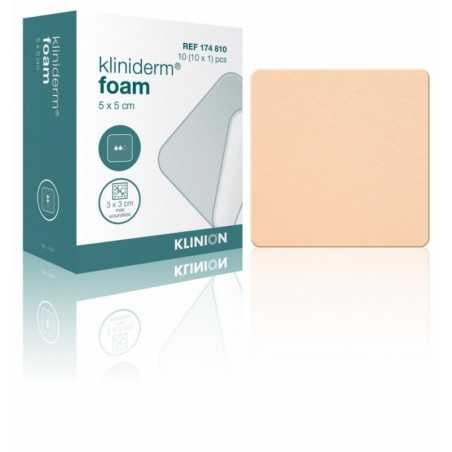 Kliniderm Foam - 5 x 5 cm - StérileBoîte de 10