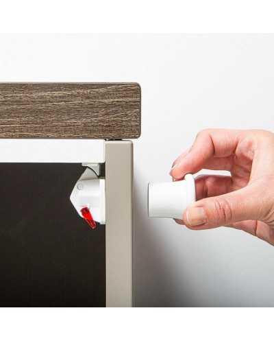 Set de 4 fermetures magnétiques pour armoire ou tiroir.