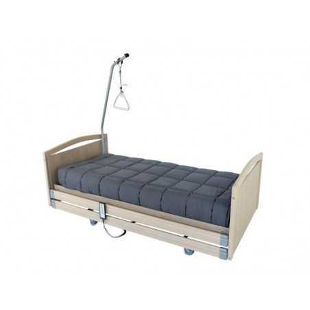 Lit à hauteur variable électrique CONFORT 2 .Panneaux de finition bois sur les côtés du lit.