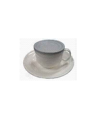 Couvercle pour tasse à café épaisse, gris