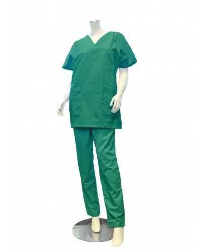 "Pantalon ""Mixte"", vert émeraude"