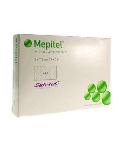 Pansements Mepitel, 5 x 7,5 cm, stérile.Boîte de 10