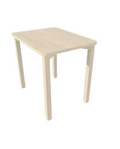 Table, avec coins arrondis, 60 x 80 x 75,5 cm (hauteur) - chêne grisé.