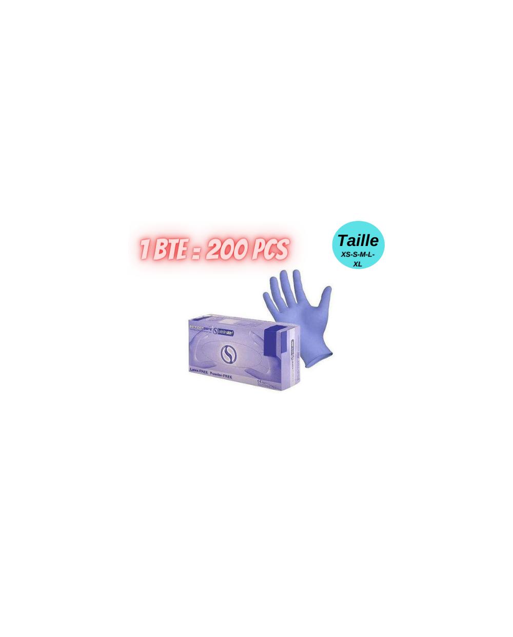 Gants en nitrile bleu Sempercare «skin2», sans poudre, 200 pièces