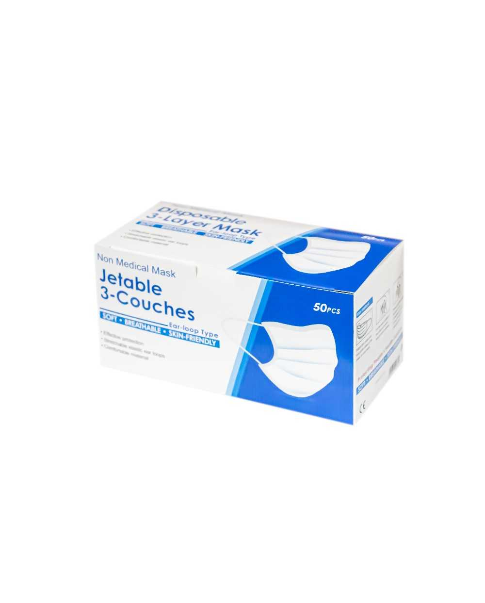 Masque chirurgical 3 couches 50 pcs / Boite
