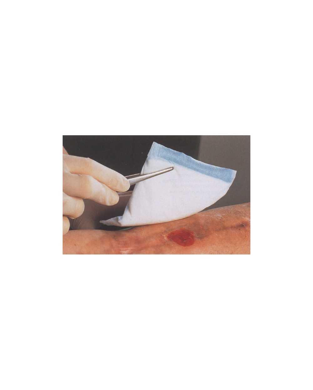 Pansements absorbants EUROVIT, 10 x 10 cm, stérile. Etui de 10