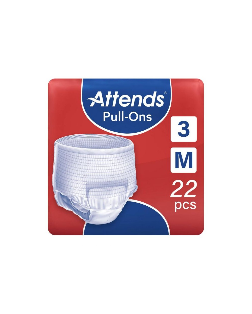 ATTENDS Pull-Ons 3 Medium - 22 protections