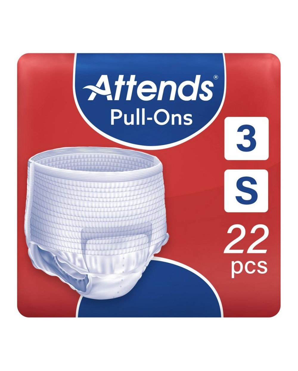 ATTENDS Pull-Ons 3 Small - 22 protections