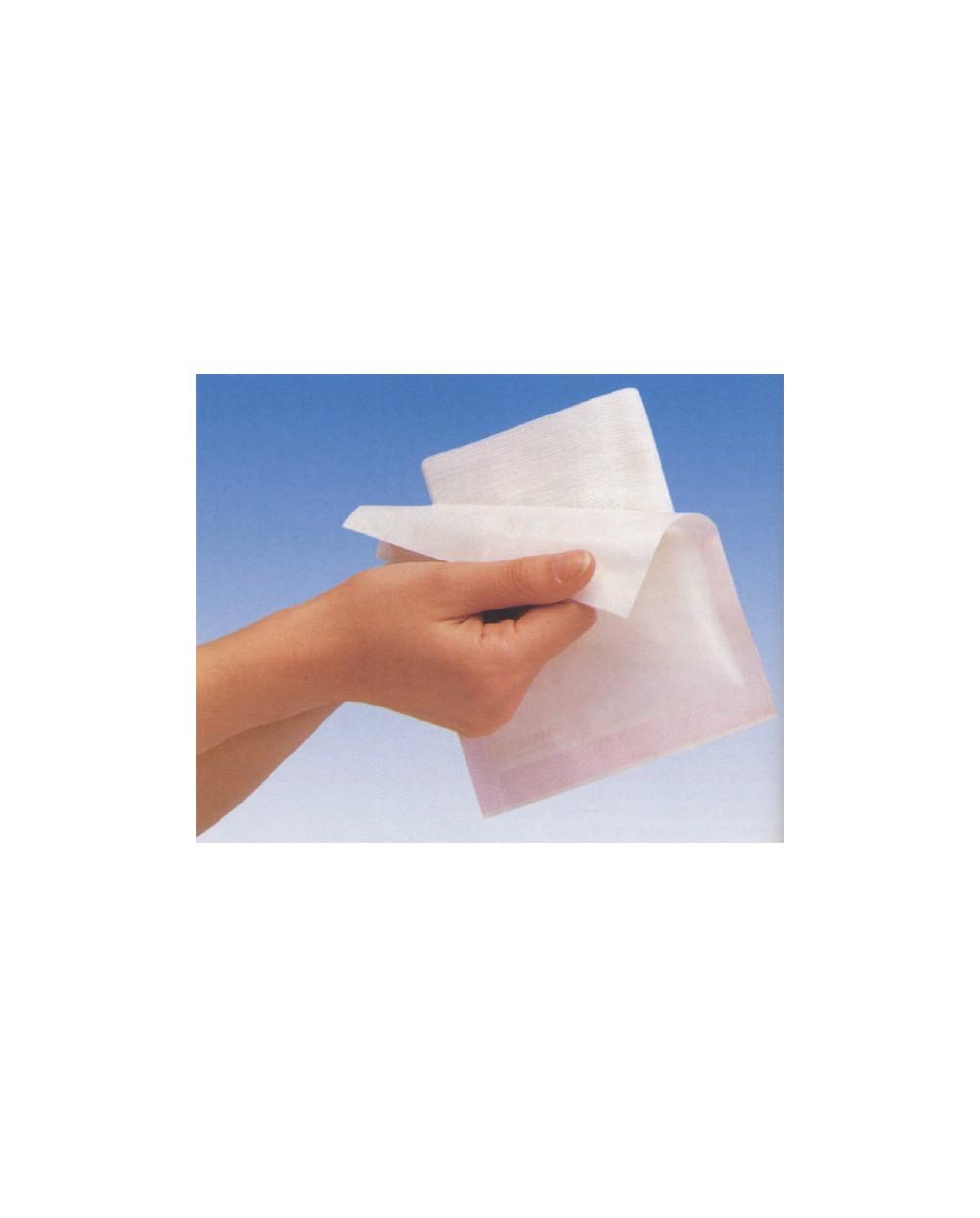 Compresses de gaze Gohy, 7,5 x 7,5 cm, paquet de 50 x 5 compresses