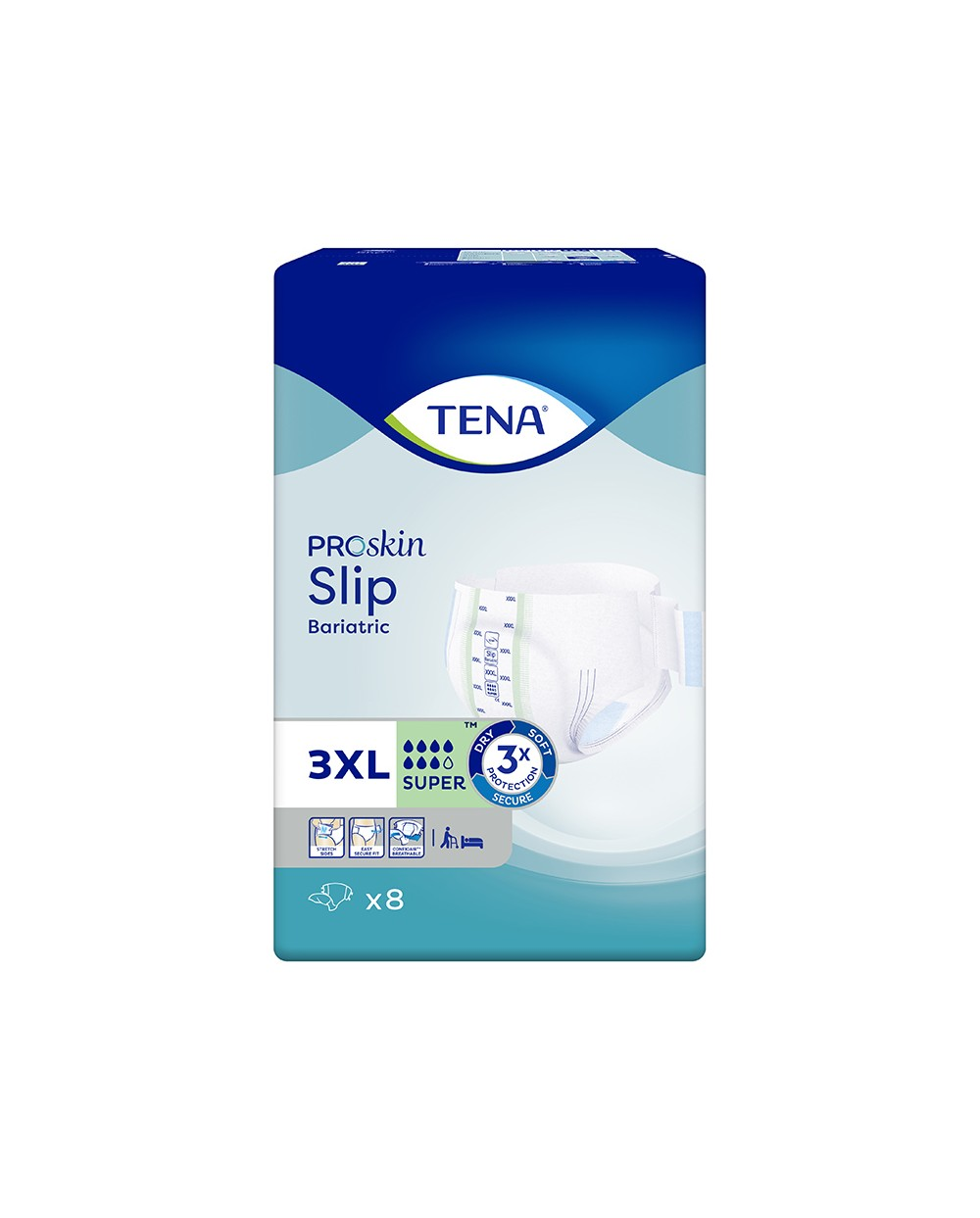 Tena Slip Bariatric Super XXXL - 8 protections