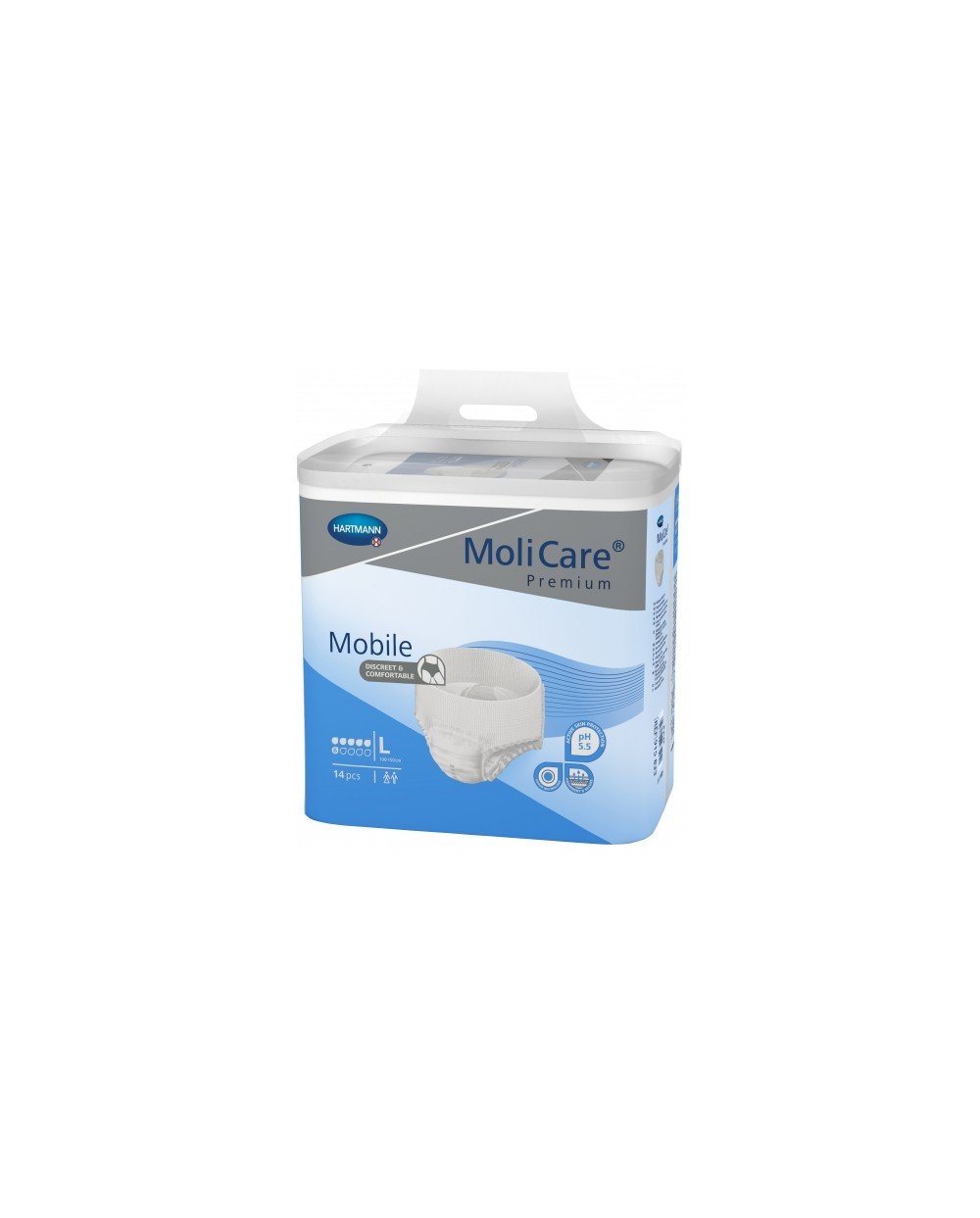 Hartmann MoliCare Mobile 6 gouttes Large - 14 protections