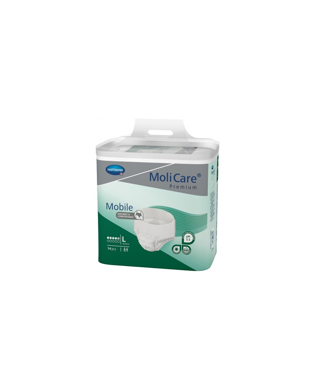 Hartmann MoliCare Mobile 5 gouttes Large- 14 protections
