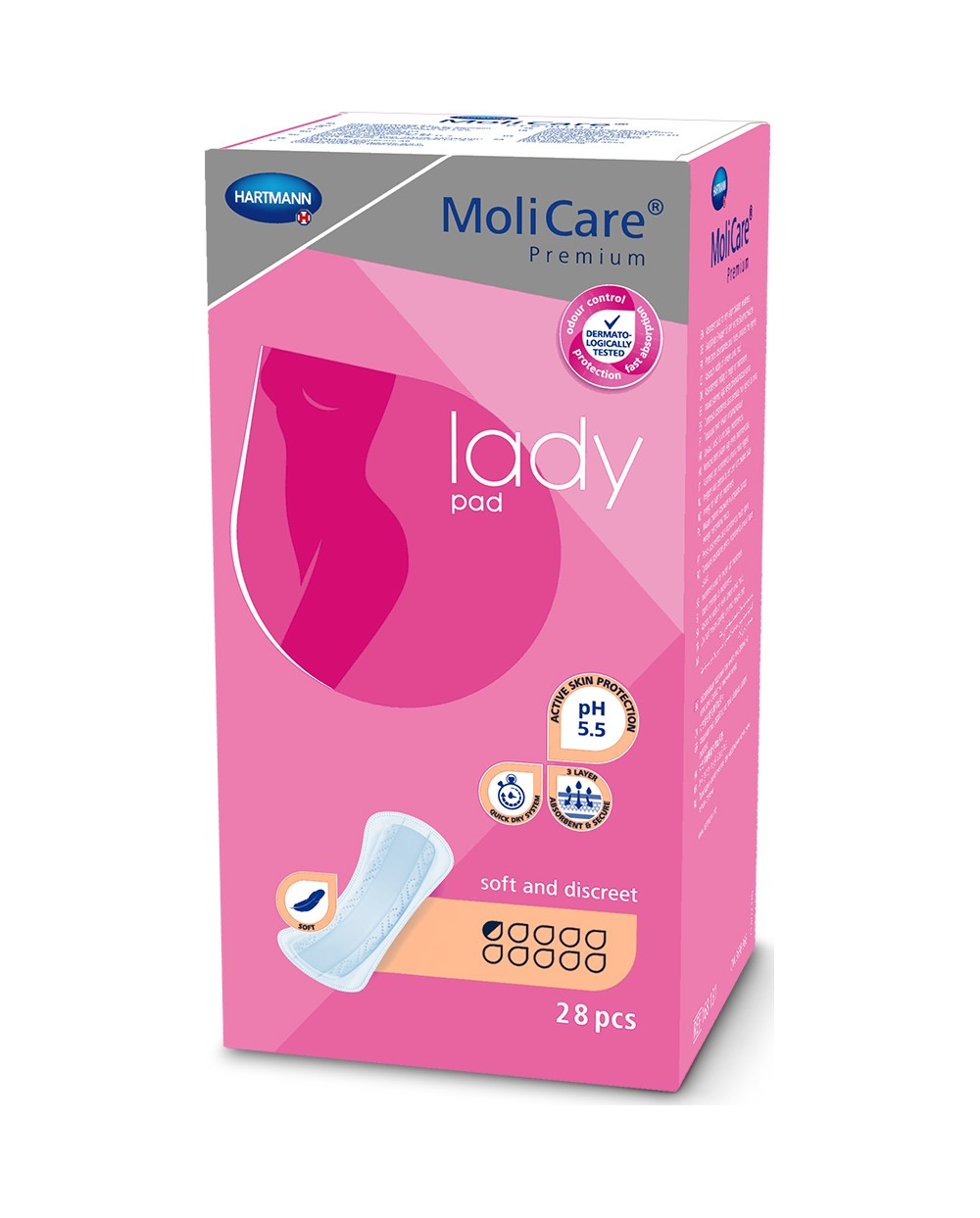 Hartmann Molicare Premium Lady Pads 0.5 goutte - 28 protections