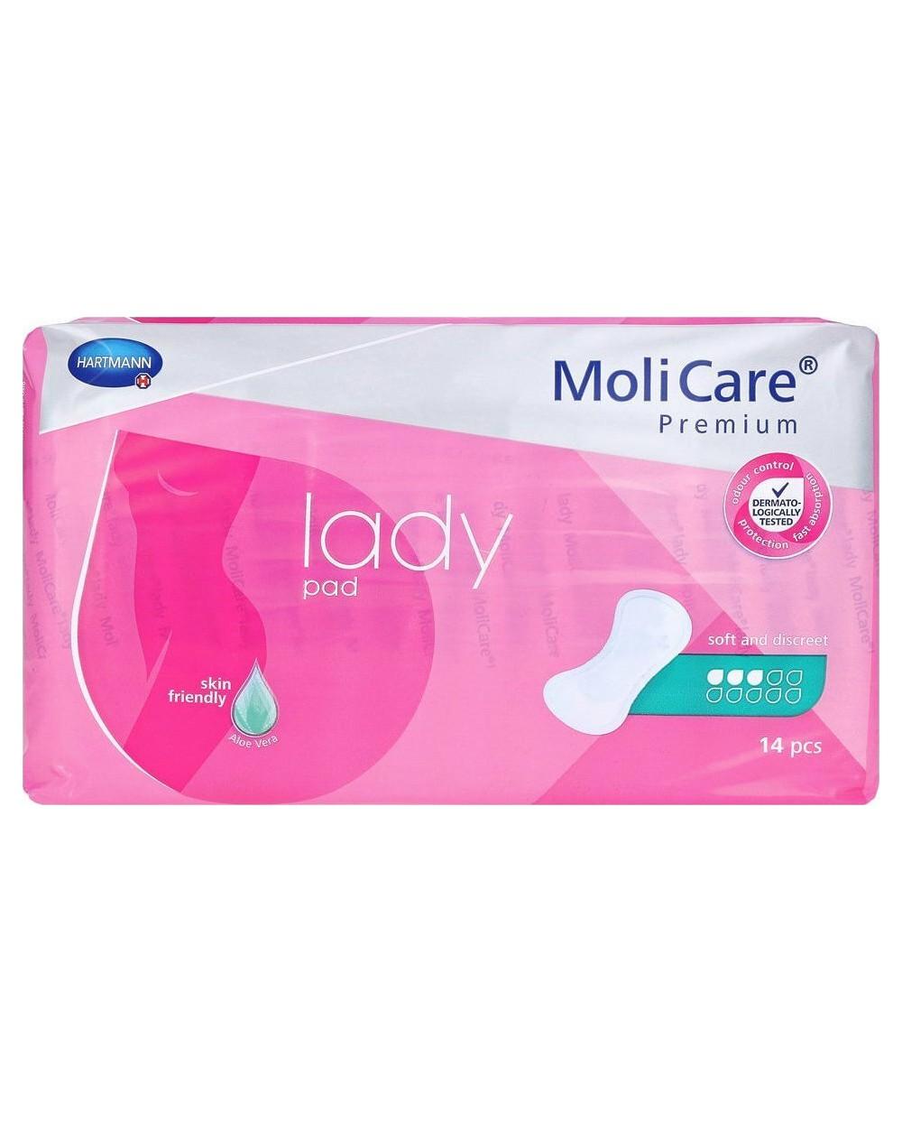 Hartmann Molicare Premium Lady Pads 3 gouttes - 14 protections