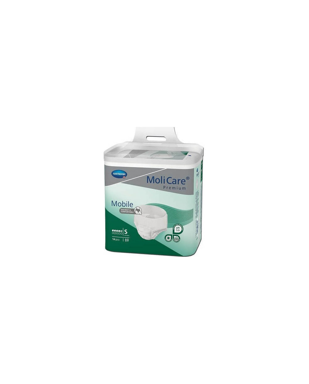 Hartmann MoliCare Mobile 5 gouttes Small- 14 protections