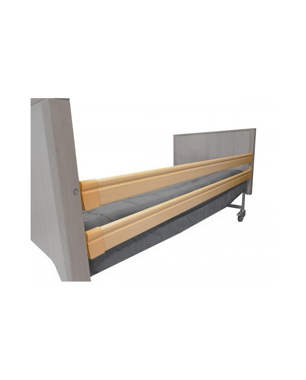 Barrière de lit 2,20 m (4 pièces) - noyer.