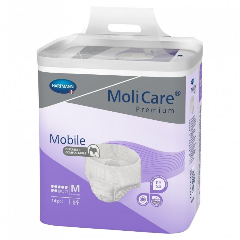 Hartmann MoliCare Mobile 8 gouttes Medium www.vivamedical.be