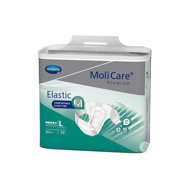 Molicare Premium Elastic taille Large 5 gouttes www.vivamedical.be
